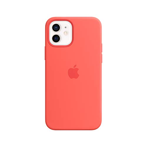 Apple Silicone Case with MagSafe (for iPhone 12 and iPhone 12 Pro) - Pink Citrus