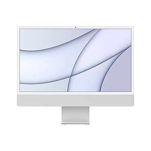 2021 Apple iMac (24-inch, Apple M1 chip with 8‑core CPU and 7‑core GPU, 8GB RAM, 256GB) - Silver