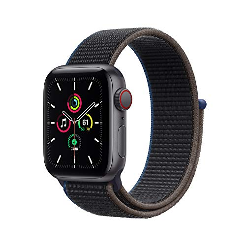Apple Watch SE (GPS + Cellular, 40mm) - Space Gray Aluminum Case with Charcoal Sport Loop