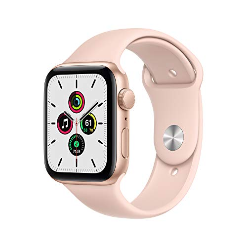 Apple Watch SE (GPS, 44mm) - Gold Aluminum Case with Pink Sand Sport Band