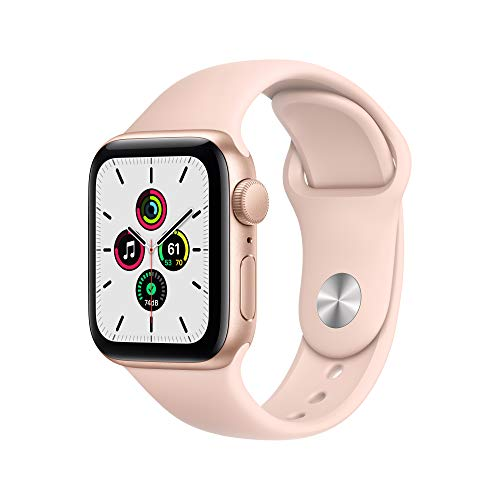 Apple Watch SE (GPS, 40mm) - Gold Aluminum Case with Pink Sand Sport Band