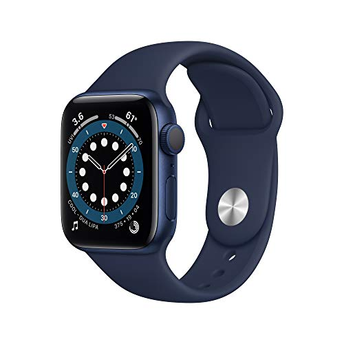 AppleWatch Series 6 (GPS, 40mm) - Blue Aluminum Case with Deep Navy Sport Band