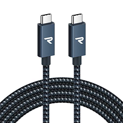 USB C to USB C Cable,Rampow [100W,USB 3.2 Gen 2X2] USB C Cable Braided Fast Charging Cable Compatible with Nintendo Switch MacBook Pro,iPad Pro,iPad Air 4,Laptops,Samsung Galaxy,Pixel-Navy Blue