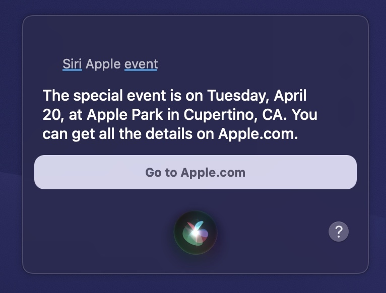 Apple April Event Announced Today