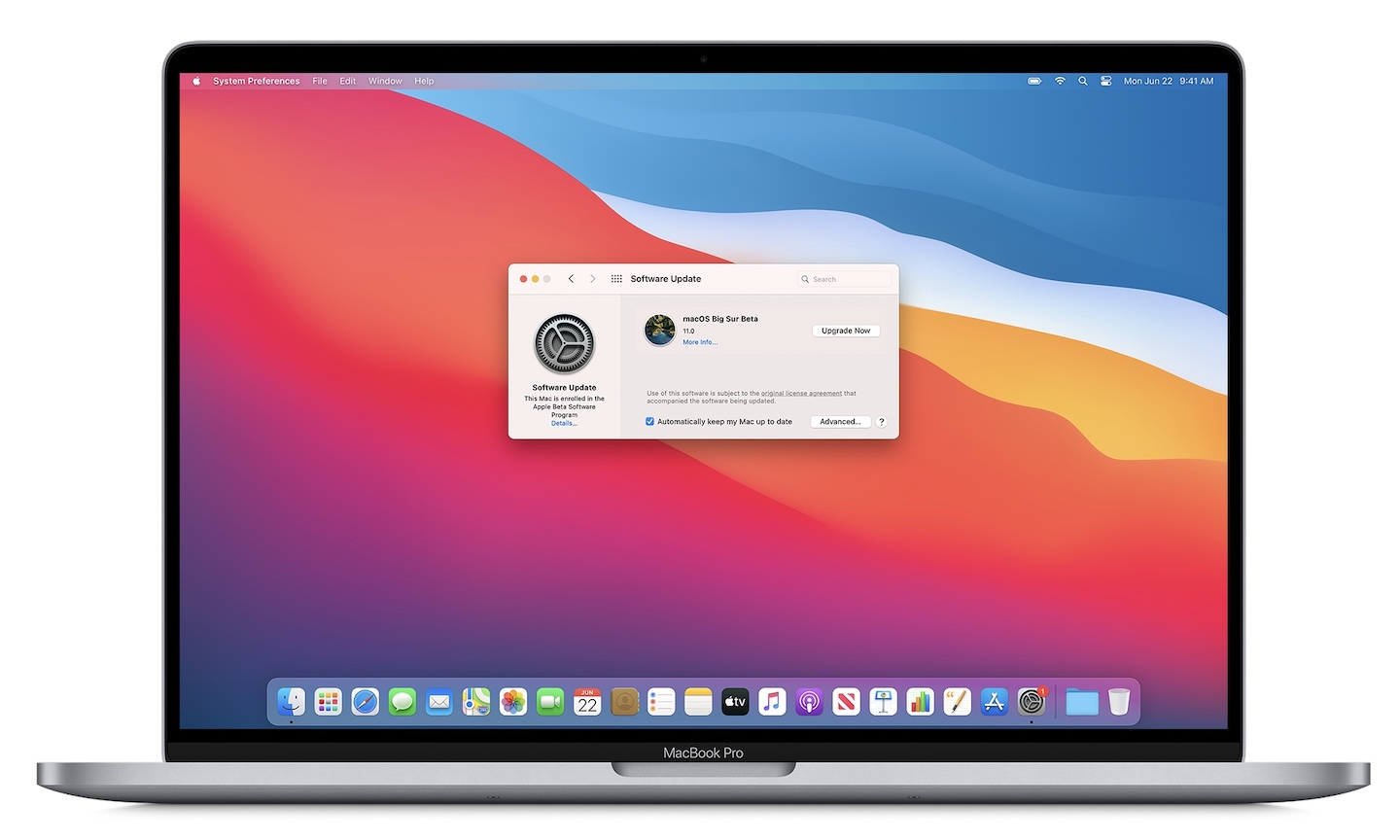 Back up your Mac being installing  macOS Big Sur Public beta 7
