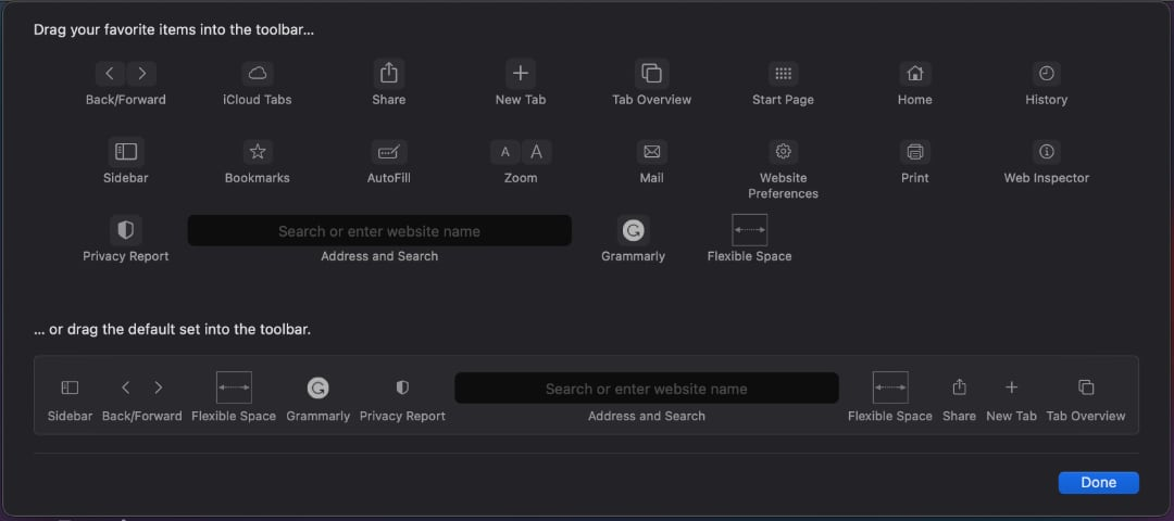 How to Customize Safari Toolbar on Mac
