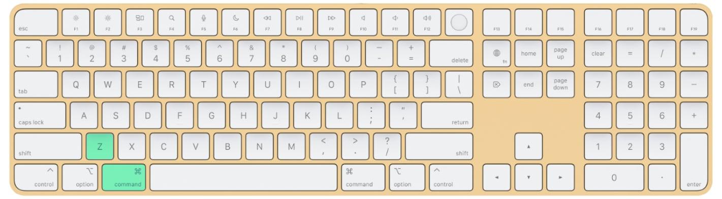undo shortcut mac / how to redo on Mac